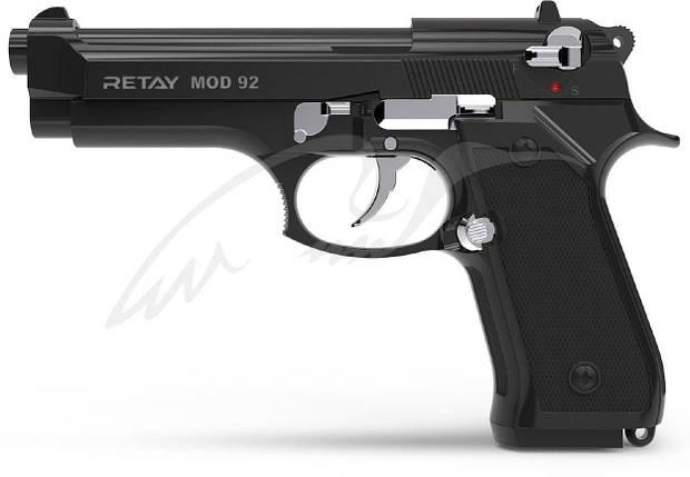 Стартовый пистолет Retay Mod 92 black/nickel, фото 2