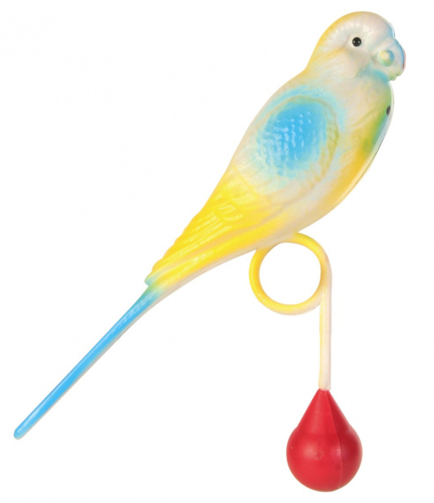 Игрушка Попугайчик пластиковый 15 см
