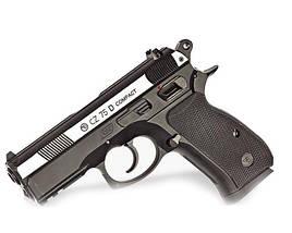 Пневматический пистолет ASG CZ 75 P-07 Blowback вставка никель, фото 3