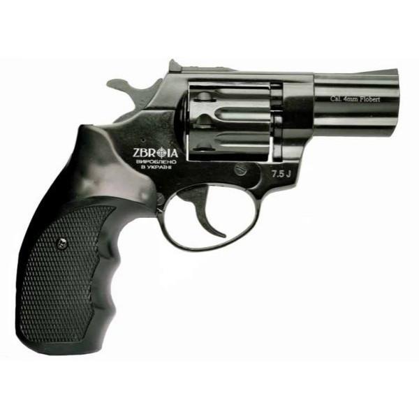 """Револьвер под патрон Флобера Zbroia PROFI 3"""" черный/пластик"""