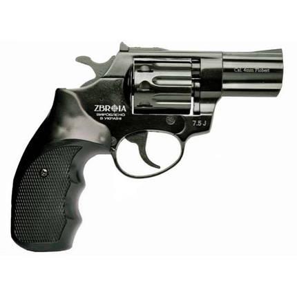 """Револьвер под патрон Флобера Zbroia PROFI 3"""" черный/пластик, фото 2"""