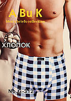 Трусы мужские боксёры хлопок ABUK размер XL-4XL(50-56) 312