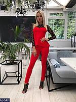 Женский костюм  с брюками DINA  цвет Красный