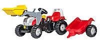 Трактор Rolly Toys Steyr CVT 23936 з причепом і ковшем червоний, фото 1