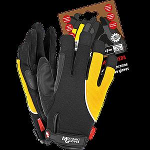 Защитные перчатки RMC-ANDROMEDA BY L из мягкой высококачественной искусственной кожи и ткани. REIS