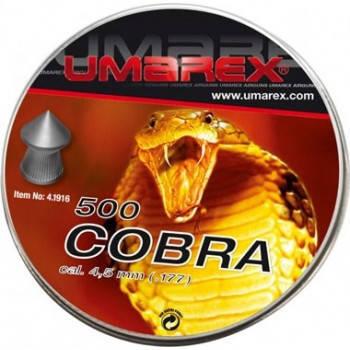 Пули Umarex Cobra 4,5 мм 0,52 г (500 шт.), фото 2