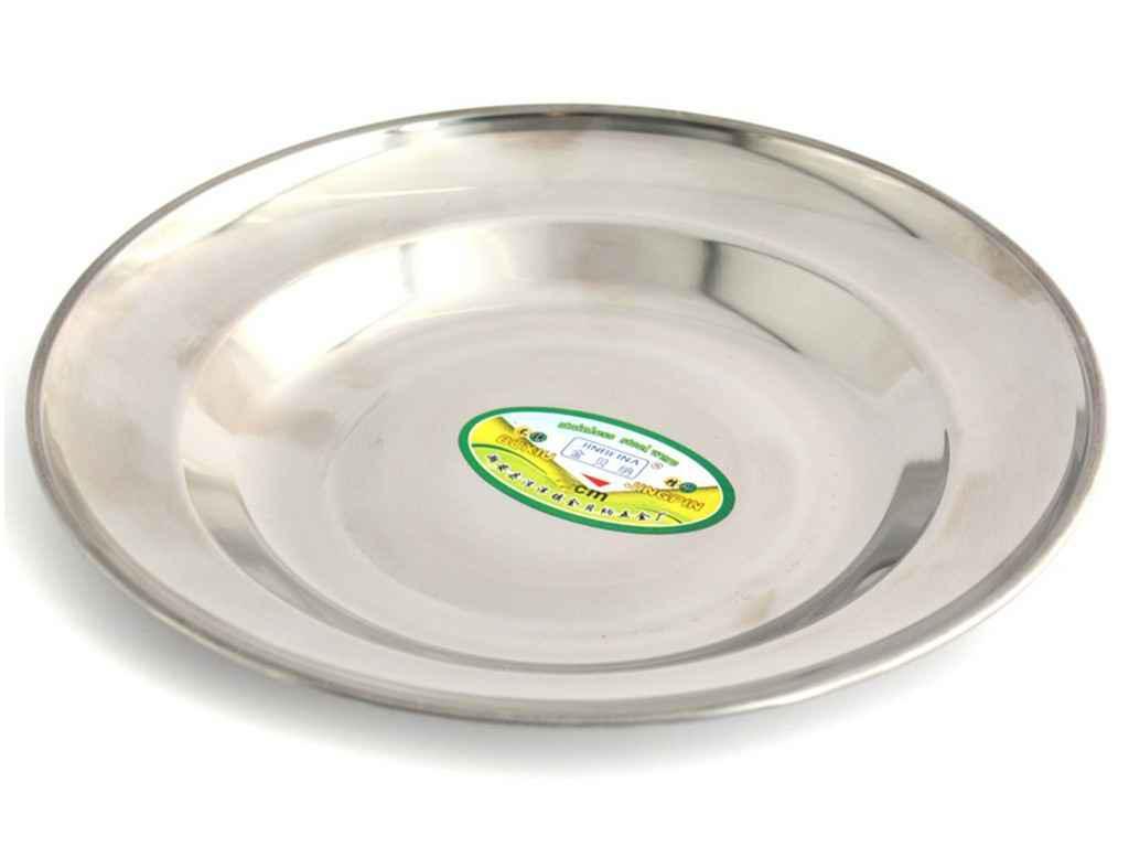 Тарелка из нержавеющей стали 20 см Interos