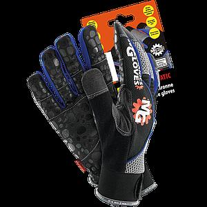 Защитные перчатки RMC-AQUATIC BSN XL из амары в сочетании с тканью, черно-синего цвета. REIS