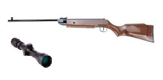 Пневматическая винтовка Shanghai B3-3 с усиленной газовой пружиной прицел 3-9х32 Sniper AR, фото 2
