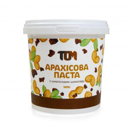Арахисовая паста ТОМ - С кусочками шоколада (500 гр)