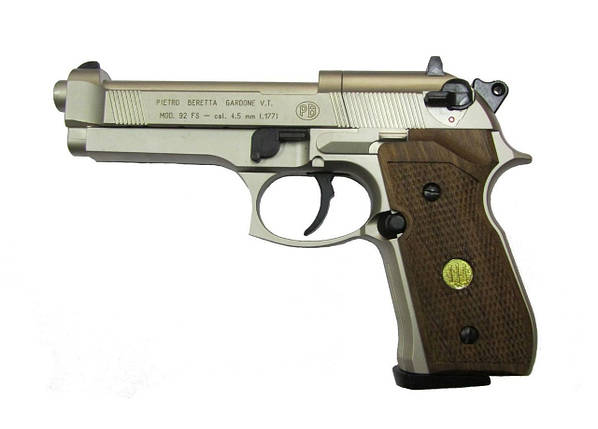 Пневматичний пістолет Umarex BERETTA 92 FS нікель, фото 2