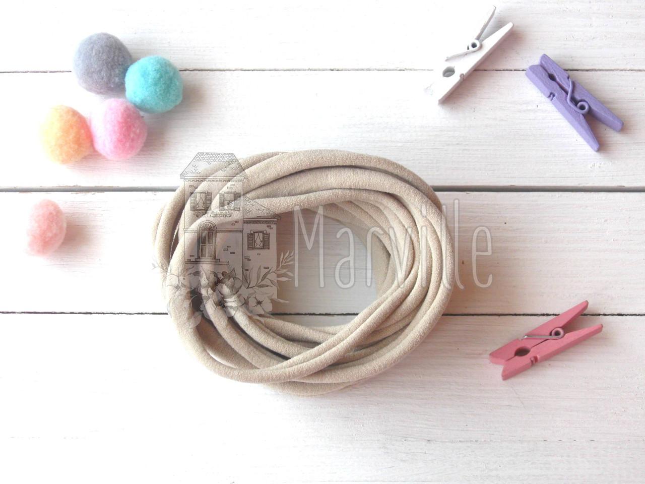 Резинка - повязка нейлоновая (one size) США Бежевая