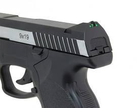 Пневматический пистолет ASG Steyr M9-A1 вставка никель, фото 3