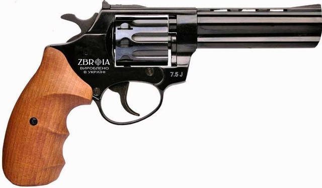 "Револьвер под патрон Флобера Zbroia PROFI 4.5"" бук, фото 2"