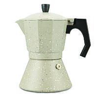 Кофеварка гейзерная 300мл (6 порции) из алюминия с широким индукционным дном