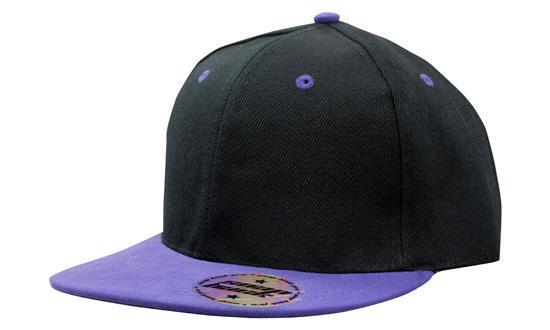 Кепка бейсболка Snapback черно-фиолетовая Headwear proffesional - 00645