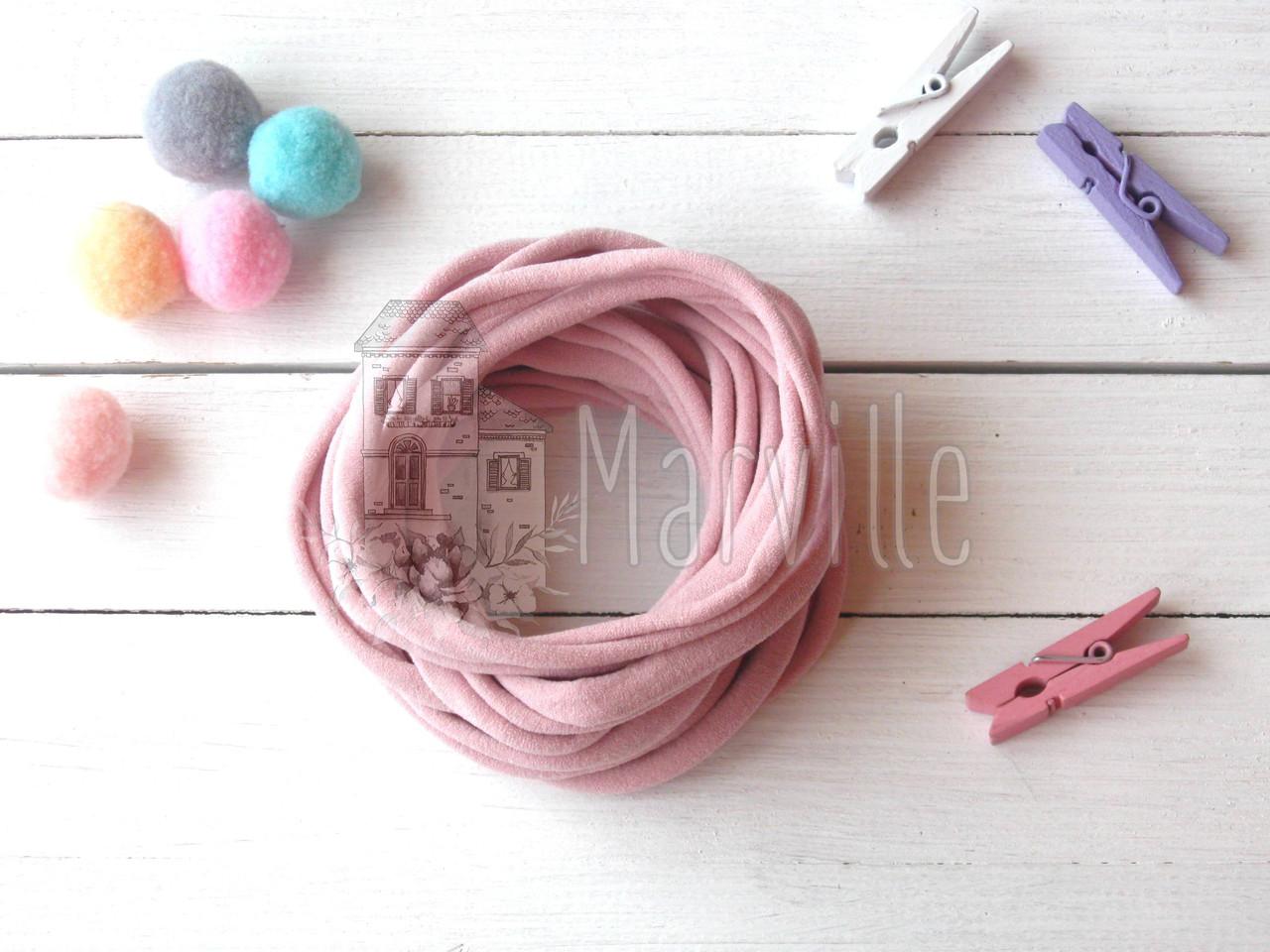 Резинка - повязка нейлоновая (one size) США Пепельно-розовая