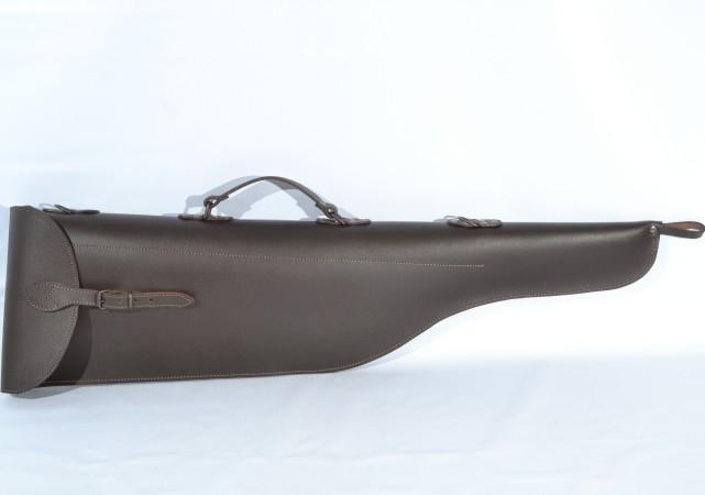 Чехол для ружья 90 см кожа-спилок коричневый, фото 1