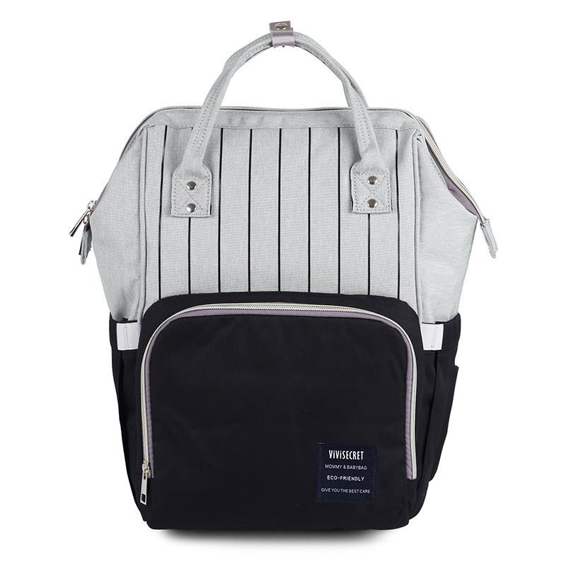 Полосатый рюкзак - органайзер для мамы