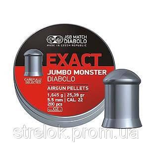 Кулі для пневматичної зброї JSB Exact Jumbo Monster 5.52 мм (200шт.) 1.645 гр., фото 2