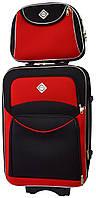 Комплект чемодан и кейс Bonro Style средний черно-красный (10120202)