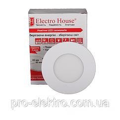 LED панелі EH-LMP-1270 кругла 4100К /Ø 90мм/3W/270Lm /120°