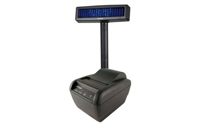Фискальный регистратор МИНИ ФП 82.01 BEG + дисплей покупателя Posiflex PD-2600