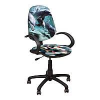 Компьютерное Кресло Поло 50/АМФ-5 Дизайн № 5 Дельфины