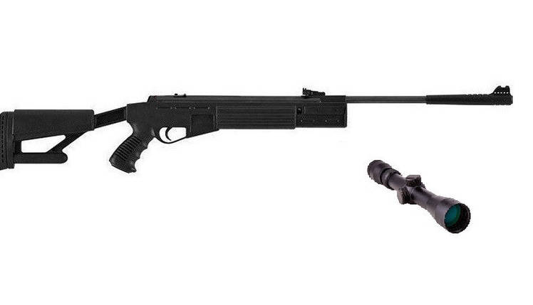 Пневматическая винтовка Hatsan Striker AR с газовой пружиной прицел 3-9×32 Sniper AR, фото 2