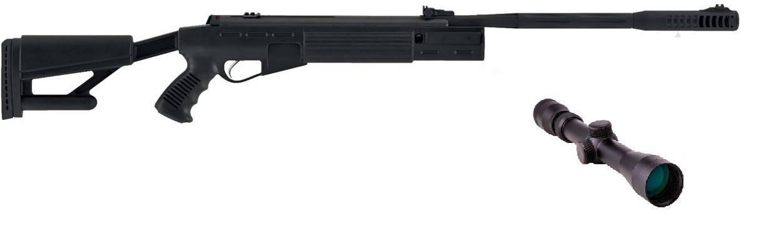 Пневматическая винтовка Hatsan AirTact с усиленной газовой пружиной прицел 3-9×32 Sniper AR, фото 2