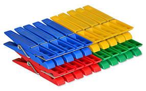 Прищепки разноцветные CLARINA полипропиленовые 2 цвета 20 шт (66-00-5030)