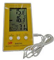 Домашний термометр / гигрометр dc-105, метеостанция, выносной термодатчик 1 м, 1*ааа, жк-дисплей, выбор меры