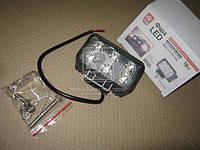 Фара LED (DK B2- 18W-B FL) прямоугольная 18W, 6 ламп, 110*114,5мм, широкий луч <ДК>