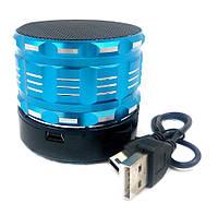 Радиоприемник колонка с Bluetooth S16 синяя