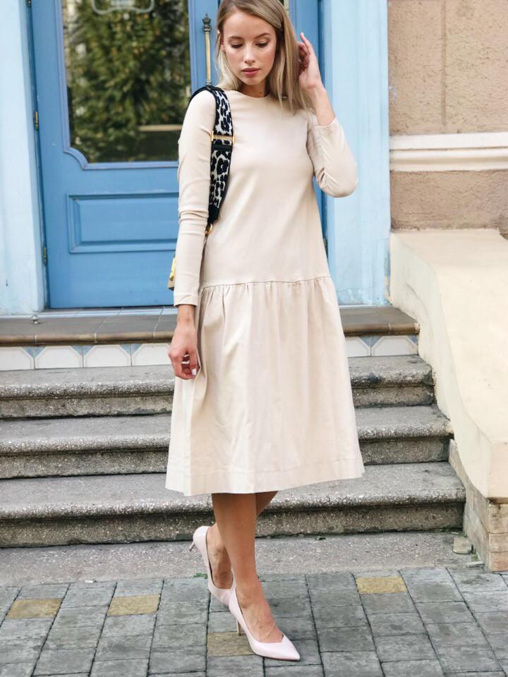 Женское красивое платье-трапеция