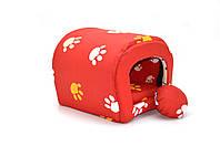 Будка туннель для собак и котов бязь мини 200х250х200 мм, фото 1