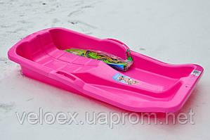 Санки Marmat Karol с тормозом розовые