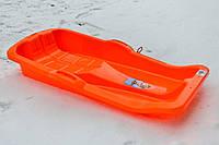 Санки Marmat Karol с тормозом оранжевые, фото 1