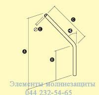 Труба углового монтажного кронштейна