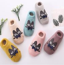 Носки следы противоскользящие махровые с 3D рисунком