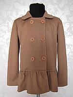 Пиджак для девочек 128,140,152,164 роста Трикотаж