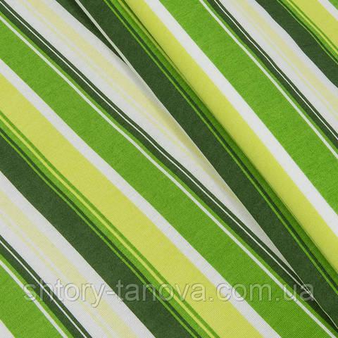 Декоративна тканина, смужки зелений