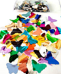 Конфетти разноцветные бабочки (фольга)