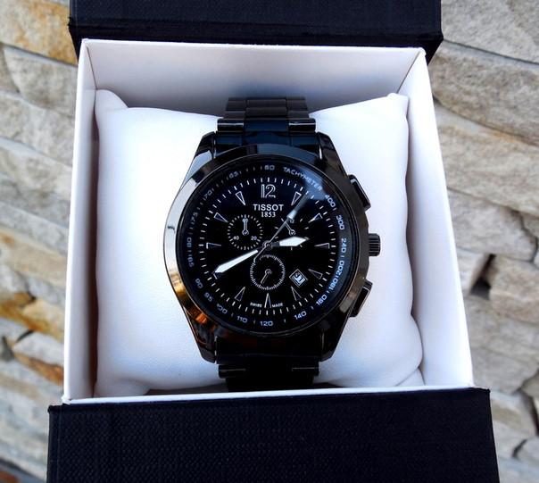 Кварцевые мужские часы черные TISSOT металлические под Rolex і ARMANI  Суперкрутые кварц Реплика Качество! 2a1f80d3717