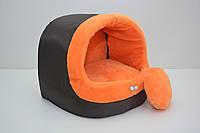 Будка для котов и собак Мех оранжевая
