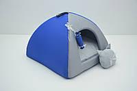 Домик юрта для котов и собак Комфорт лето синий №0 300х300х240мм, фото 1