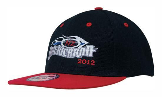 Кепка бейсболка Snapback черно-красная Headwear proffesional - 00651
