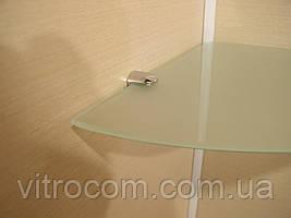 Полка стеклянная угловая 6 мм матовая 25 х 25 см
