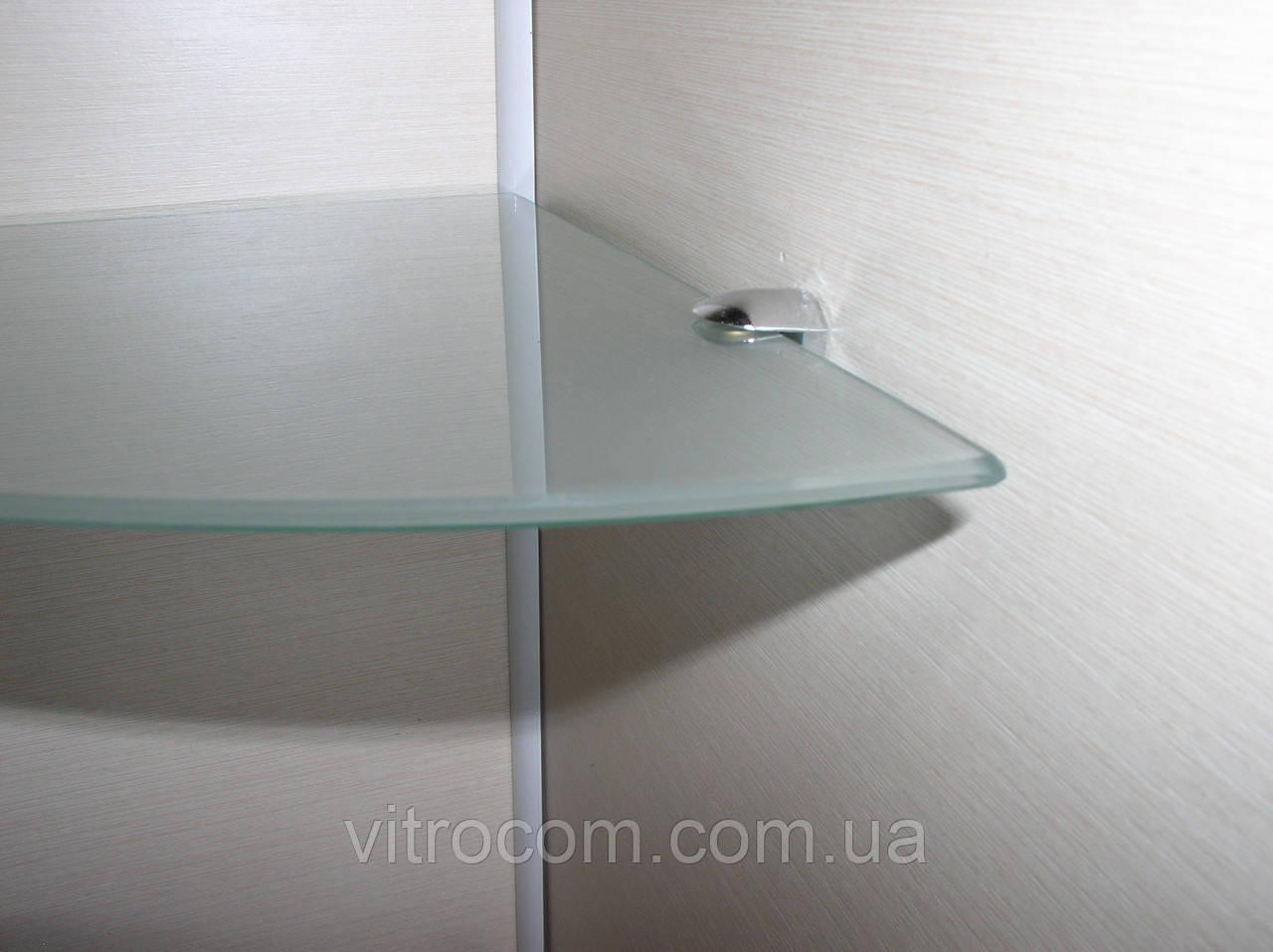 Полка стеклянная угловая 5 мм матовая 35 х 35 см
