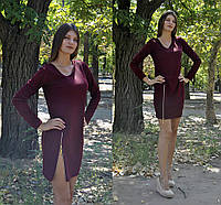 Стильное платье с молнией на бедре, фото 1